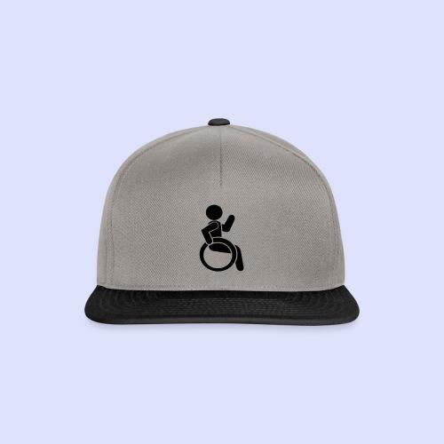 Zwaaiende rolstoel gebruiker 001 - Snapback cap