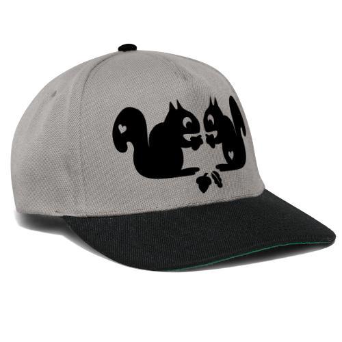 verliebte Eichhörnchen - Snapback Cap