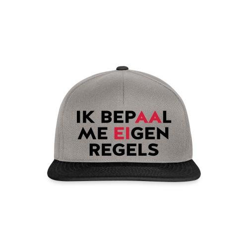 Ik bepaal me eigen regels - Snapback cap