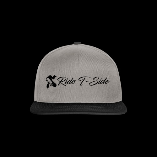 Ride T-Side - Logo and Text - Black - Snapback Cap
