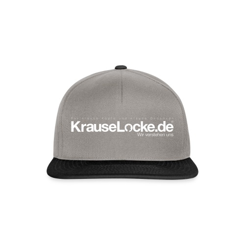KrauseLocke Logo FINAL mit Claim weiss - Snapback Cap