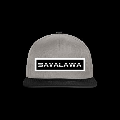 SavaLawa Schrift Schwarz/Weiß - Snapback Cap