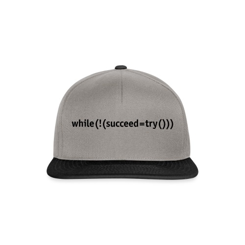 While not succeed, try again. - Snapback Cap