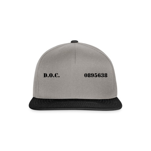 Department of Corrections (D.O.C.) 2 front - Snapback Cap
