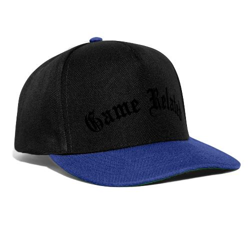 Game Related - musta printti - Snapback Cap