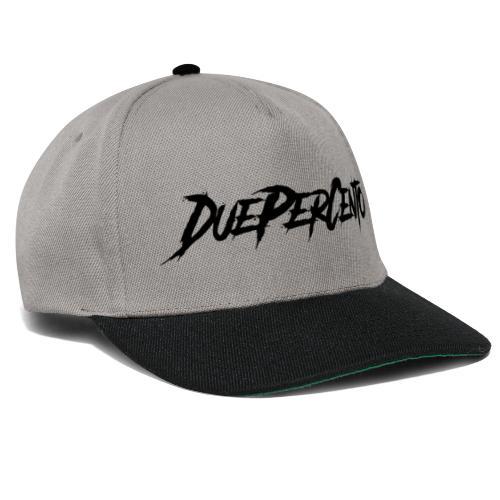 DuePerCento Scritta Nera - Snapback Cap