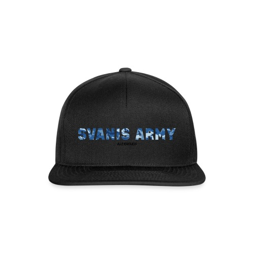 SVANIS ARMY (ALEXSVANIS SVART TEXT) - Snapbackkeps