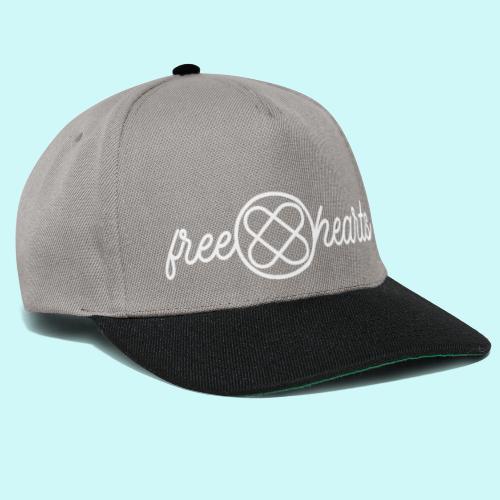 freehearts white logo - Snapback Cap
