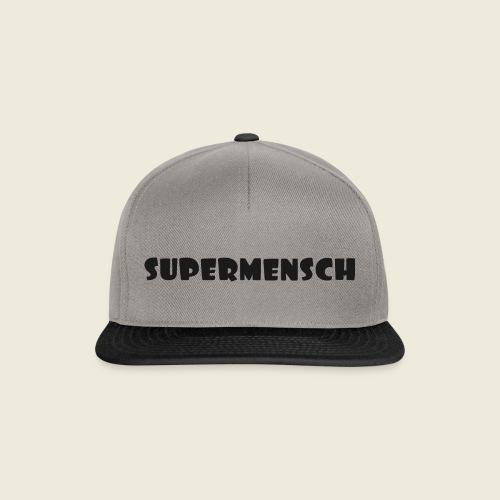Supermensch in schwarz 2 - Snapback Cap