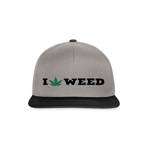 I LOVE WEED - Snapback Cap