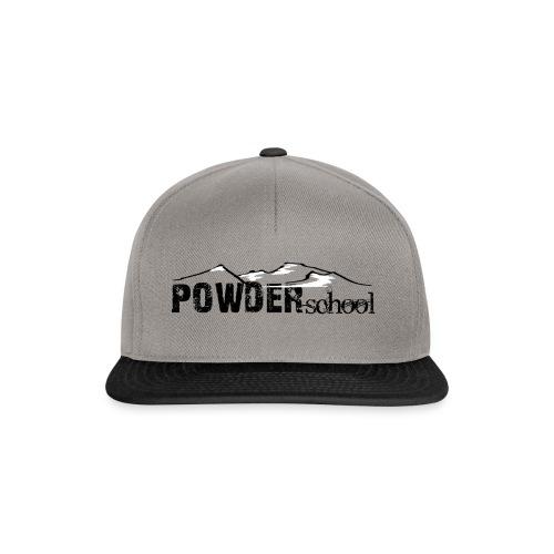Powderschool Logo schwarz - Snapback Cap