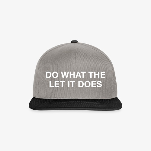 Do what the let it does - Snapback Cap