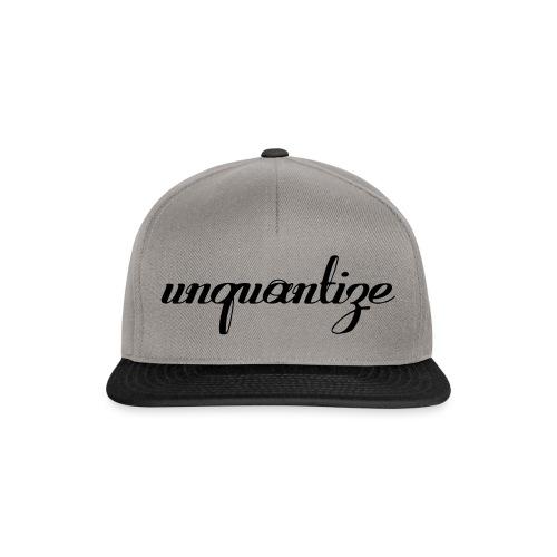 unquantize black logo - Snapback Cap