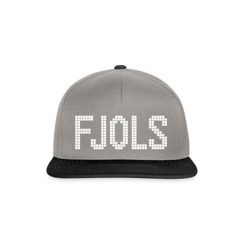 FJOLS med hvid tekst - Snapback Cap