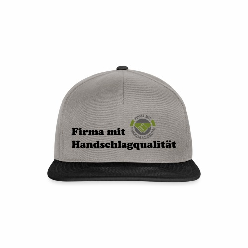 Handschlagqualität Text schwarz - Snapback Cap