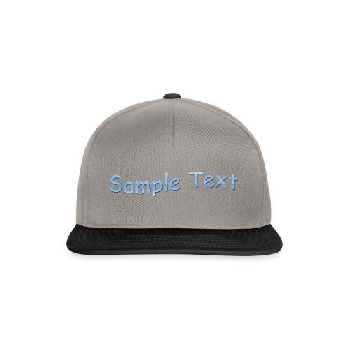 SAMPLE TEXT CAP - Snapback Cap