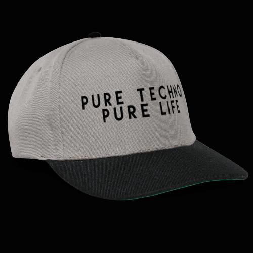 Pure Techno Pure Life Black - Snapback Cap