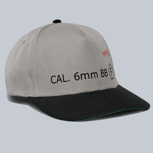 CAL. 6mm BLACK - Snapback Cap