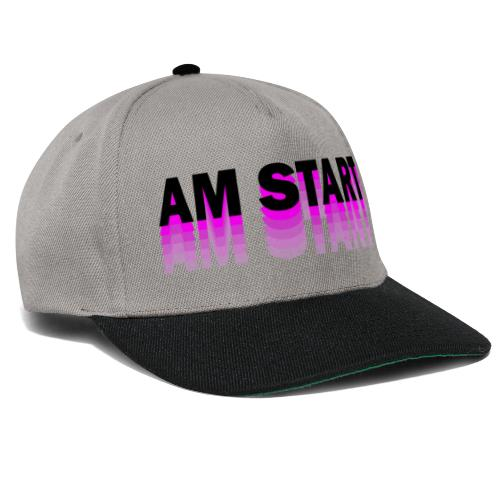 am Start - pink schwarz faded - Snapback Cap