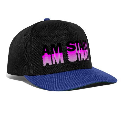 am Start - pink schwarz faded - Snapback Cap