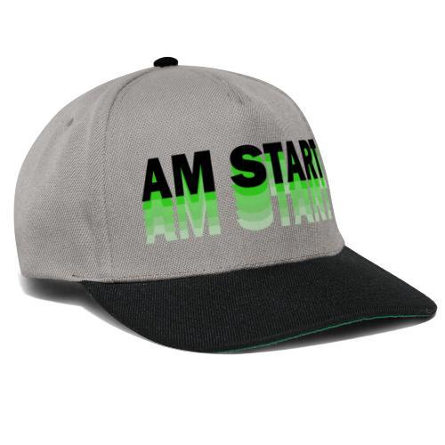 am Start - grün schwarz faded - Snapback Cap