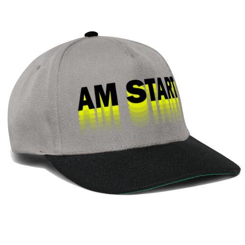 am Start - gelb schwarz faded - Snapback Cap