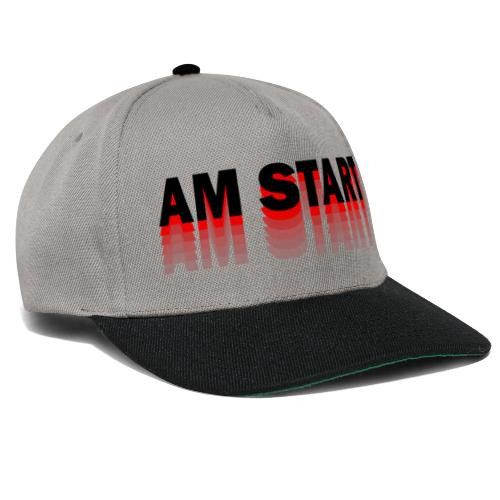 am Start - rot schwarz faded - Snapback Cap