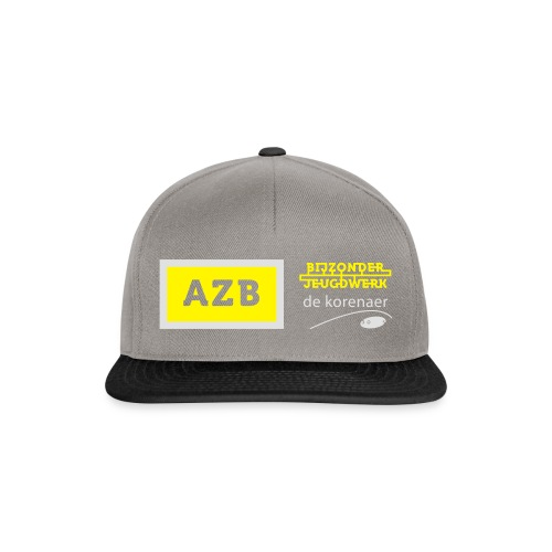 AZB logo Geel Wit - Snapback cap