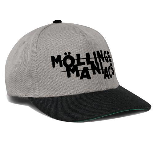 Möllinge Maniacs svart logga - Snapbackkeps