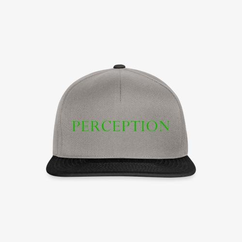 PERCEPTION CLOTHES VERT - Casquette snapback