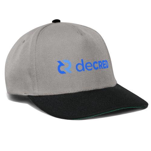 Decred logo horizontal blue - Snapback cap