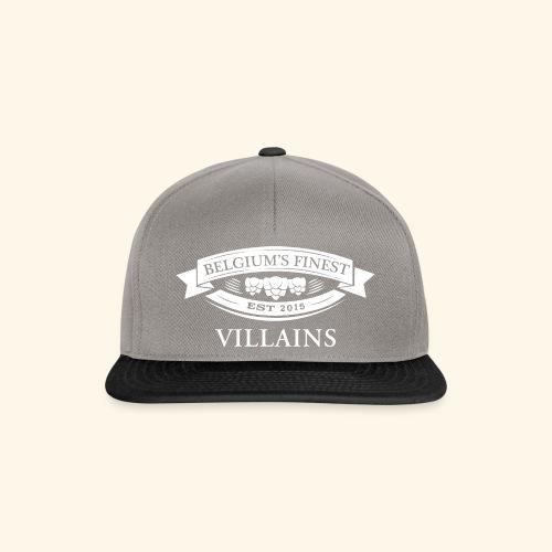 BelgiumFinestEst2015Villains full white - Snapback Cap