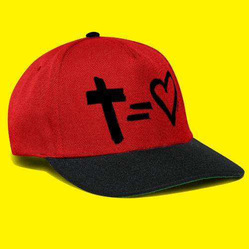 Cross = Heart BLACK - Snapback Cap