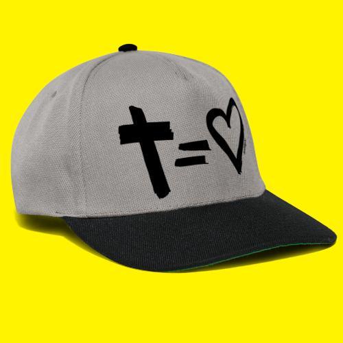 Cross = Heart BLACK - Snapback Cap