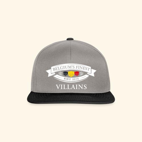 BelgiumFinestEst2015Villains white - Snapback Cap
