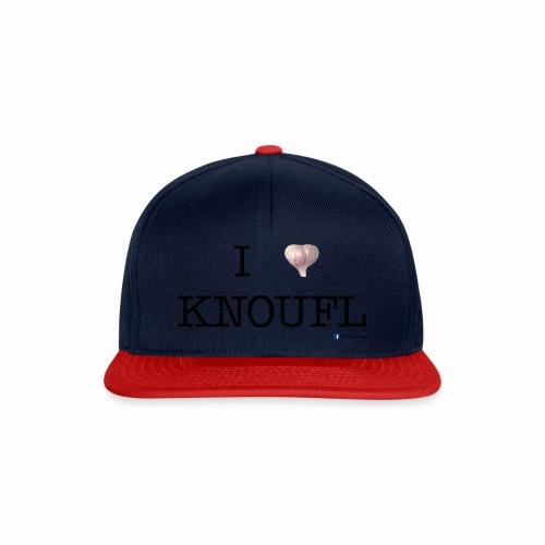 i love knoufl black - Snapback Cap