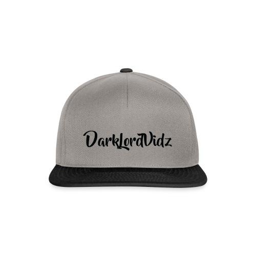 DarklordVidz Black Logo - Snapback Cap