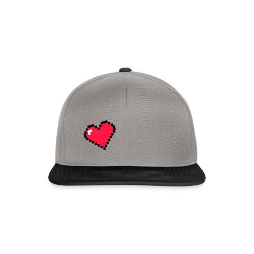 Corazón pixel - Gorra Snapback