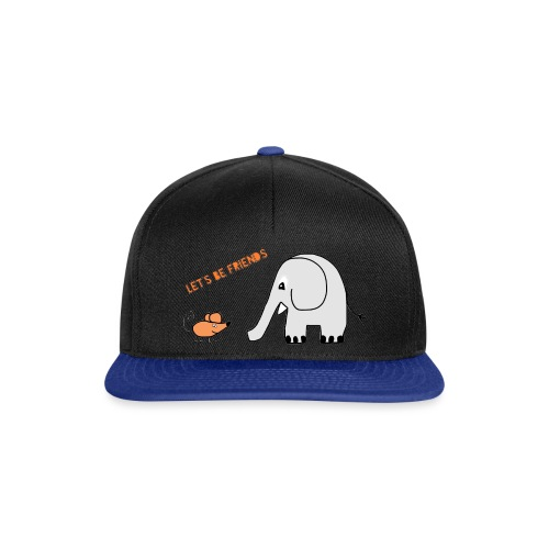 Elephant and mouse, friends - Snapback Cap