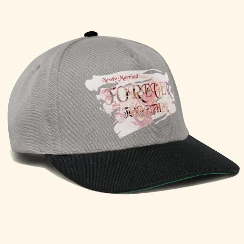 "Newly married together forever ""weddingcontest"" - Snapback Cap"