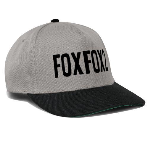 FoxFox | Text - Snapback Cap