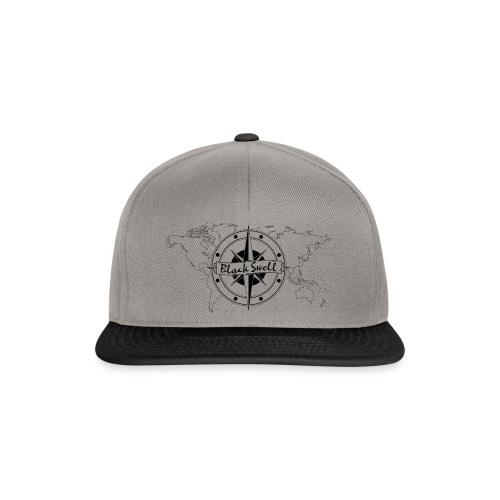 Black Swell Cap - Snapback Cap