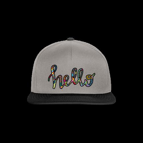Colourful HELLO in black - Snapback Cap