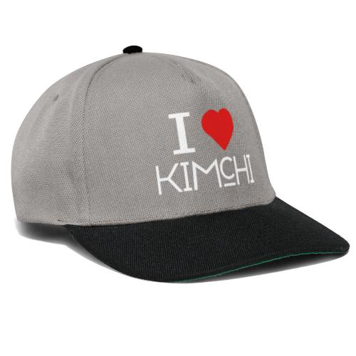 Korean Food Stories I LOVE KIMCHI (white) - Snapback Cap