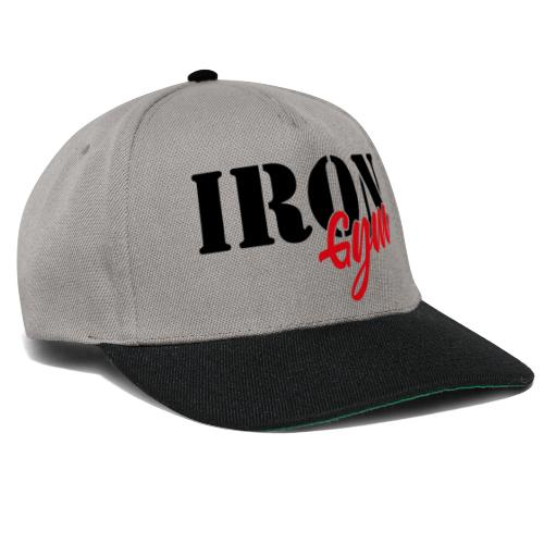 iron gym logo black - Gorra Snapback