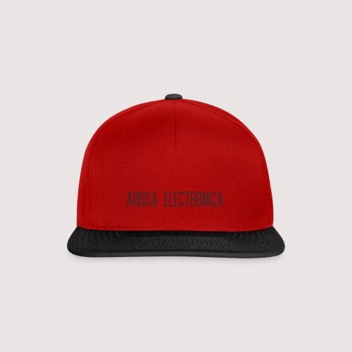 Schrift Schwarz - Snapback Cap