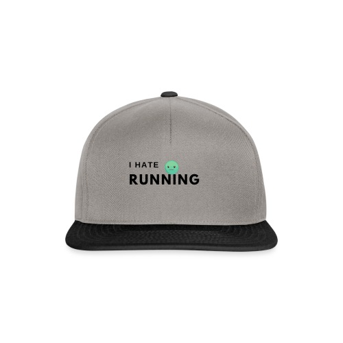 I hate running - Snapback cap