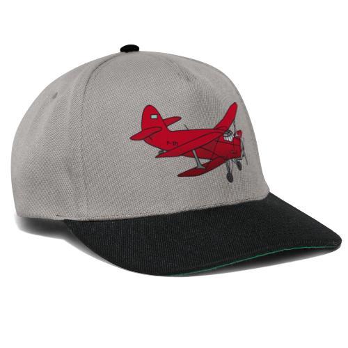 Doppeldecker Flieger rot - Snapback Cap