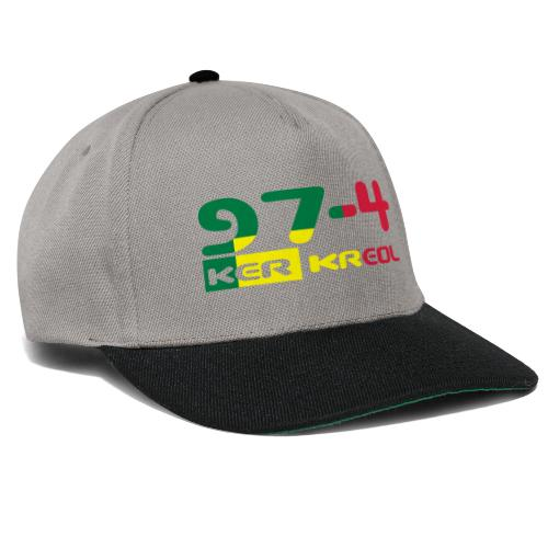 Logo 974 ker kreol VJR, rastafari - Casquette snapback
