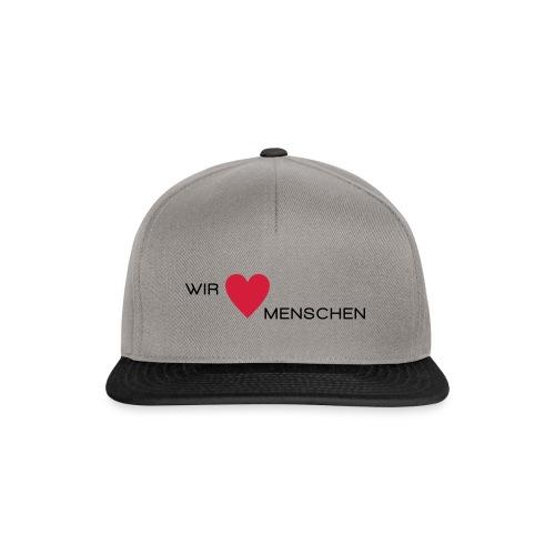 Wir lieben Menschen - Snapback Cap